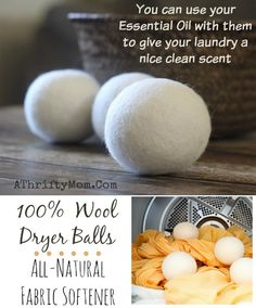 Wool Dryer balls are an all natural way to dry your laundry without chemicals, Use your essential oils to give them a nice fragrance, #AllNatural, #DIY, #MoneySavings, #Wool, #Oils,