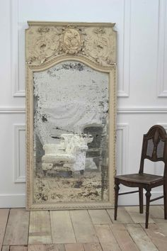 antique mirror..