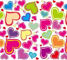 Love Patterns | patterns,pattern,love,color,colorful,heart,heart shape,romance ...