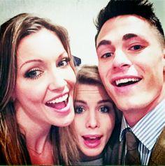 Emily Bett Rickards, Colton Haynes & Katie Cassidy #CWUpfronts ♥