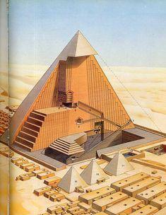 Inside Khufu's pyramid, Giza, Egypt