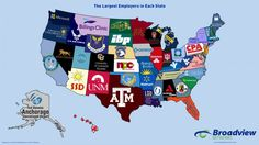 the largest employer in each US state