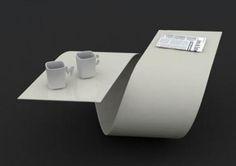 Spiral Coffee Table in livingroom by BaitaDesign.