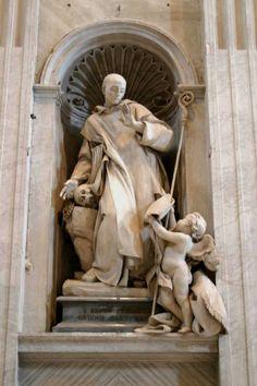 St Bruno-FounderSaintStatue Slodtz (1744) Monaco, Statue Base, St Peters Basilica, San Bruno, Vatican City, Picts, Orthodox Icons, Michelangelo, Religious Art