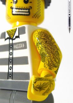 Pilot Shows You How to Tattoo Your LEGO-Man | Creative Ad Awards  #creative #products #advertising
