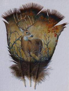 Hand Painted Turkey Feathers I hate hunting, and usually anything like this in general, but this is awesome.