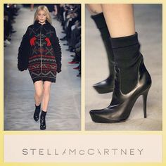 Stella McCartney $995 runway black sweater booties/ankle boots sz.8/US RR Price: $190 www.resalerichesnyc.com