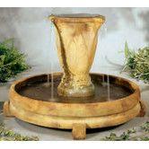 Found it at Wayfair - Henri Studio Centerpiece Stone Overflowing Vase Fountain