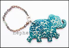 550.00$  Watch now - http://viwdm.justgood.pw/vig/item.php?t=bth1h21326 - AUTH NWB Hermes HAATI ELEPHANT Animal Keyring Keychain or Bag Charm BLUE PAON