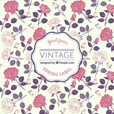Garden of Lounge Lounge Deep House Summer Tunes Vintage Patterns, Vintage Designs, Floral Patterns, Cherry Blossom Background, Style Floral, White And Pink Roses, Estilo Retro, Rose Frame, Design Graphique