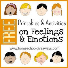 FREE Printables and Activities on Feelings and Emotions!