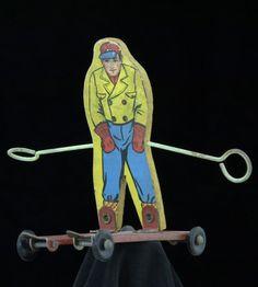 ski jumper close up