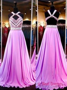Prom Gown,Lilac Evening Dress, Prom Gowns,Prom Dresses,2018 New Prom Gowns,Lilac Evening Gown,Backless Party Dresses PD20187477