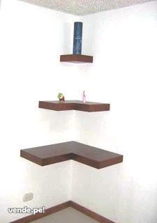 Repisa de madera negro con ganchos mcl9275533 ideas para for Ganchos para repisas