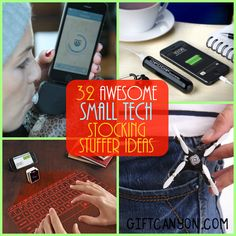 I found 32 small tech stocking stuffers that will make your loved ones jump up in joy when they take these out of their Christmas stocking.