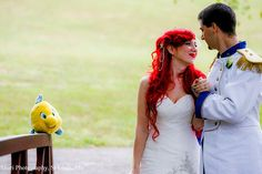 disney couple wedding | This Couple Really, Really Loves Disney - Yahoo News Philippines. Love the dress!