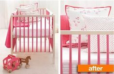 Before & After: Budget IKEA Sniglar Crib Goes Pretty in Pink | Apartment Therapy