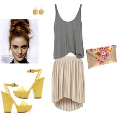 hi-low skirt/top put a blazer or long cardigan on & good to go for church