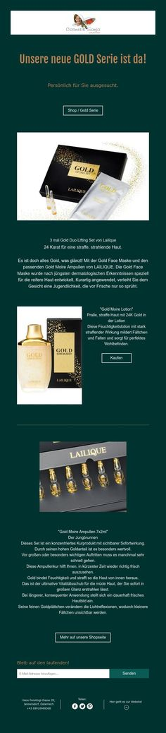 Unsere neue GOLDSerie ist da! Lotion, Gold, Lotions, Cream, Yellow