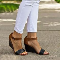 86c428f881 12 Best low wedge shoes images | Low wedges, Shoes sandals, Boots