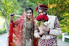 Sikh Wedding, Punjabi Wedding, Indian Bride And Groom, Punjabi Bride, Groom Poses, Wedding Beauty, Portrait Photo, Wedding Inspiration, Wedding Ideas