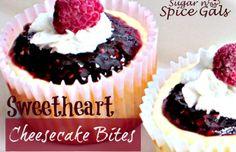 Sweetheart cheesecake bites - Mytaste.com