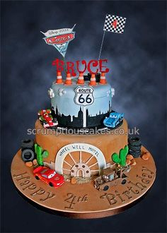 Disney Pixar Cars Cake Design : 1000+ images about Cars Birthday Party Ideas on Pinterest ...