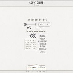 Count On Me Brushes  ♥♥Join 3,900 people. Follow our Free Digital Scrapbook Board. New Freebies every day.♥♥