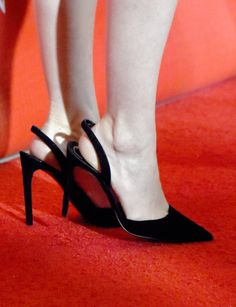 Palm Springs International Film Festival Awards: Rooney Mara wearing black sling back pumps.