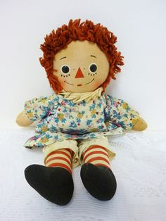 Vintage Raggedy Ann Musical Doll with Heart Plays by SheLeftUsThis, $27.95    Had two of these....still do!