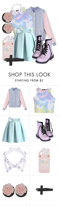"""Pastel Goth"" by vvannaone ❤ liked on Polyvore featuring Boohoo, Chicwish, Yuzefi and Forever 21"
