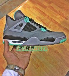 "brand new cd6c8 ec568 Air Jordan IV Retro ""Green Glow"" Air Jordan Iv, Sportkleidung, Süße Schuhe"