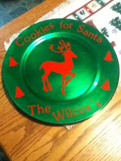 Cookies for Santa charger plate.