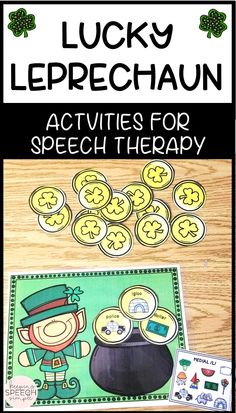 These St. Patrick's themed activities for speech therapy and phonology are the perfect addition to your speech room! There are several levels of game play, making this suitable for your students ranging from preschool to elementary students. There are 180 sound targets included in this sound loaded resource! Click here to see more!