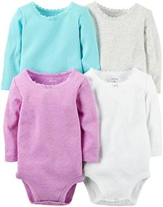 Baby Girl Clothes Carter's Baby Girls Multi-Pack Bodysuits, Assorted, New Born Check more at https://www.newbornbabystuff.com/baby-girl-clothes-carters-baby-girls-multi-pack-bodysuits-assorted-new-born/