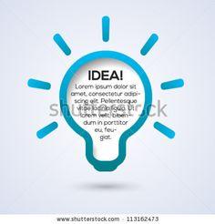 Light bulb idea concept template. Vector illustration. - stock vector