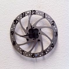 Mountain bike disc brake clock I made