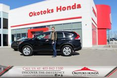 Carolyn and her new Honda CRV - thanks to Kerry Lewis. Welcome to the OH Family! Call Okotoks Honda at 403.842.1100 for your next Honda!