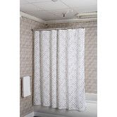 Found it at Wayfair - Rings Polyester Fabric Shower Curtain
