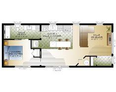 Monarque - Habitations Mont-Carleton Square Feet, Construction, Prefab Homes, Model Homes, Floor Plans, Cottage, Flooring, Farm House