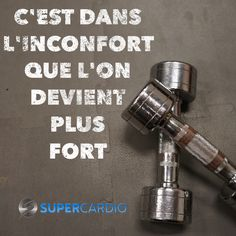 inconfort-plus-fort-supercardio-motivation - Carola Work Motivation, Fitness Motivation Quotes, Fitness Inspiration Quotes, Motivation Inspiration, Workout Inspiration, Citation Gym, Quotes Francais, Moving On Tattoos, Gym Humour