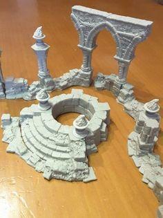 escenorama ruins1 | DIY MUSEUM | Wargaming terrain, Game