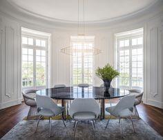 Light & airy contemporary dining room by Cristina Jorge de Carvalho Interior Design | Photo by Francisco Almeida Dias
