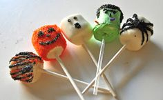 Living the Super Life: Halloween: Day #2- Dipped Marsh Mellows