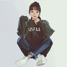 Anime Drawings Ready For Anything - Won Bin Lee is an artist from South Korea. Art Anime Fille, Anime Art Girl, Anime Girls, Character Inspiration, Character Art, Naruhina, Hinata Hyuga, Beautiful Anime Girl, Girl Wallpaper