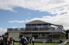 Der BMW Pavillon bei den #KLM #OPEN mit der neuen Anova Vista #Eventhalle von De Boer #Zelte