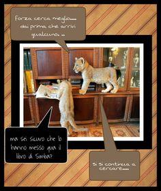 eccoilnostromondo: due leoncini lettori