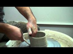 Akira Satake: Throwing a Chawan (Japanese ceremonial tea bowl), slip applied. - YouTube