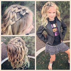 Super quick and easy spider web! With some curls Halloween style! Super quick and easy spider web! With some curls! Super quick and easy spider web! With some curls! Baby Girl Hairstyles, Winter Hairstyles, Pretty Hairstyles, Braided Hairstyles, Toddler Hairstyles, School Hairstyles, Hairdos, Mixed Kids Hairstyles, Halloween Hairstyles