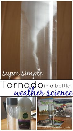 Tornado Bottle Weather Science Experiment For Kids